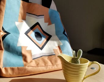 Aztec Pattern Hand Painted Tote Bag
