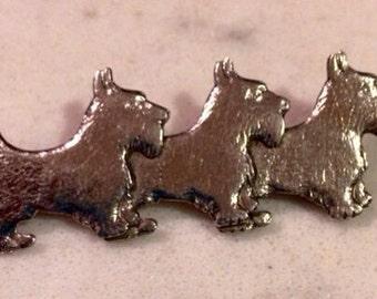 Sterling Silver Scottie Pin/Brooch