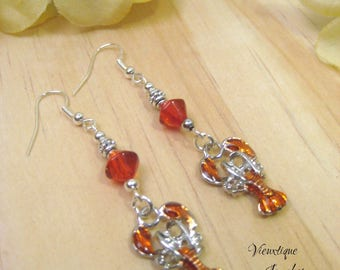 Crawfish Earrings, Crawfish Jewelry, Louisiana Jewelry, Cajun Jewelry, Southern Jewelry