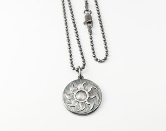 Magic:The Gathering Inspired  Pendant In Sterling Silver - White Mana