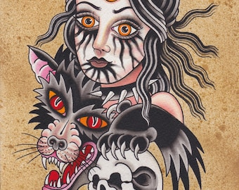 Wolf Child - Ashley Riot print 2014