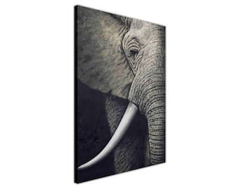 Elephant Oil Painting Reprinted onto a Framed Print Canvas Wall Art Pictures Decoration Photos Nature Images Animal Photos