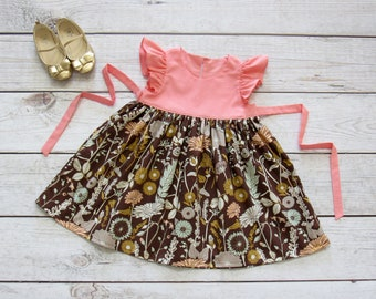 Girl Floral Dress Size 1-14