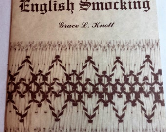 How to Do English Smocking booklet 1977 & bonus The Ellen Briggs Party Dress Pattern size 6-8 1988