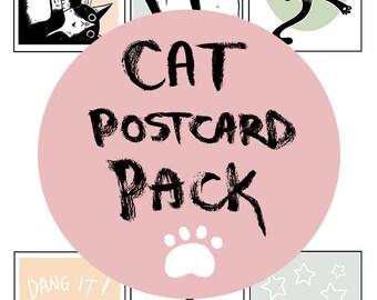 Cat Postcard Pack