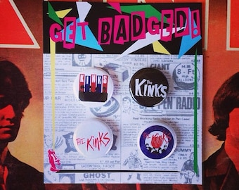 The Kinks 1 inch badge set of four