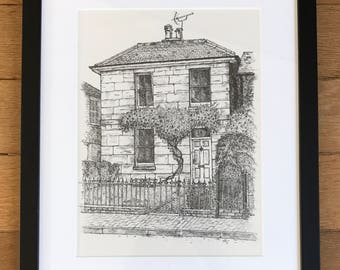 Example of a commission of a house portrait