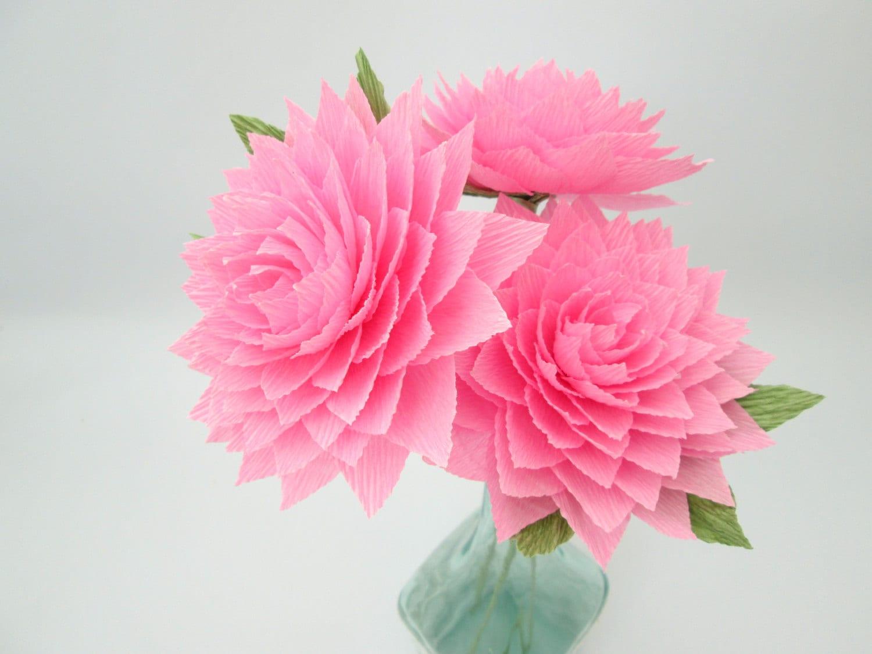 paper dahlia   pink dahlia   paper flowers   wedding decoration