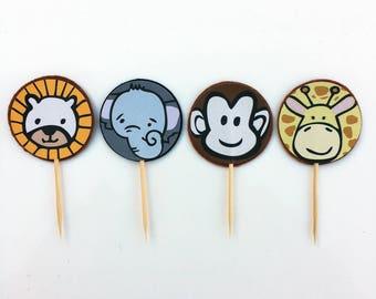 Baby Animals / Safari / Jungle Animals Cupcake Toppers (pk of 12)