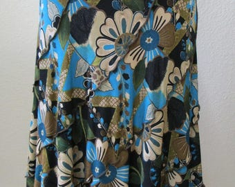 mix color floral pattern skirt or tube dress for optional plus made in USA (V165)