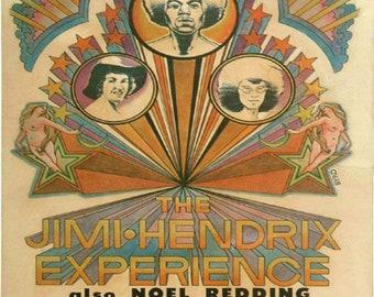 Jimi Hendrix Experience Vintage Concert Poster Print Cobo Arena