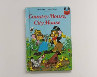 Country Mouse, City Mouse Notebook - Handmade Disney Notebook