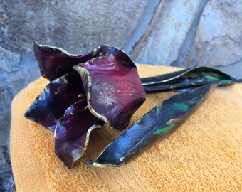 Iron tulip, iron gift for her, iron anniversary gift, iron gifts, Mother's day gift, iron flower, hand forged flower, hand forged tulip