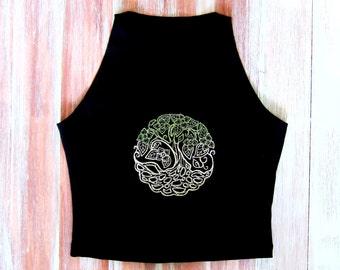 Tree Of Life Crop Top-Boho Yoga Crop Top-Tree Of Life-Yoga Clothing