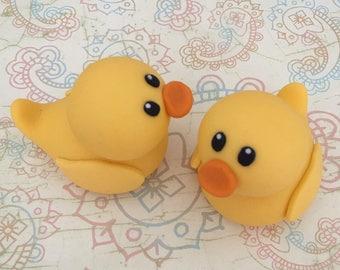 2 ducks fondant topper