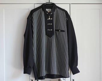Gianni Versace Shirt Black White Silver Men's Blouse