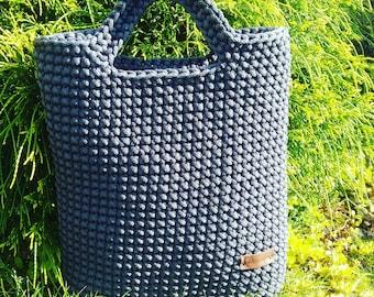 Crochet rope bag, handmade rope bag, tote bag, woven handbag, casual handbag, shopping bag, handmade crochet bag, crochet bag, gift for her