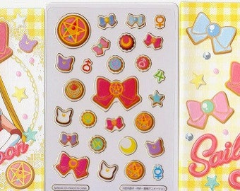 Sailor Moon Stickers - Clear Stickers - Small Trading Card Size - Reference A6044A6419