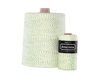 NEW**Green and White Divine Twine X