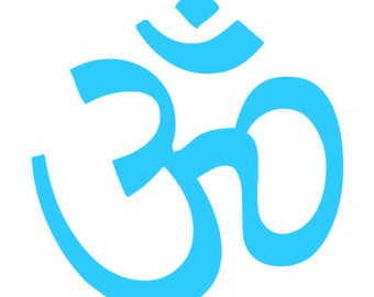 Om Yoga Mat Decal - Also makes a great decal for water bottles, car windows and more