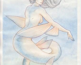 Flying Fish - Orignal Watercolour Painting