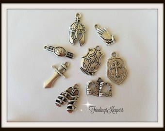 The Full Armor Of GOD Charm Sets Antique Silver  - ts020