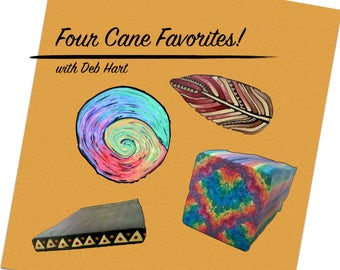 Tutorial - Four Fabulous Canes, polymer clay tutorial, polymer clay ebook, pdf class, cane booklet, diy book, millefiori instructions
