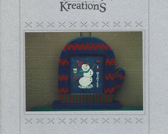 """Clearance - """"Winter Love"""" Counted Cross Stitch Chart by Poppy Kreations"""
