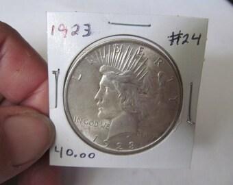 1923 Liberty Peace Dollar 1923 Silver Dollar Antique Coins USA Silver Coins Antique Coins Us Currency Rare Coin Collection Coin Collector