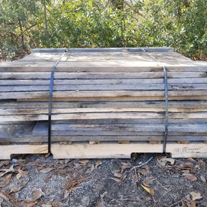 1 Inch Thick Solid Oak Pallet Wood Rustic and Weathered Oak Wood pack of 10