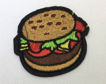 Hamburger - Iron on Appliqué Patch