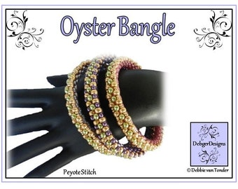 Beading Pattern, Tutorial, Bangle- OYSTER