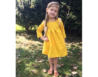 girls dresses, baby dress, dresses, fall outfit, mustard yellow, fall dress, toddler dress, fall fashion, family pictures, newborn