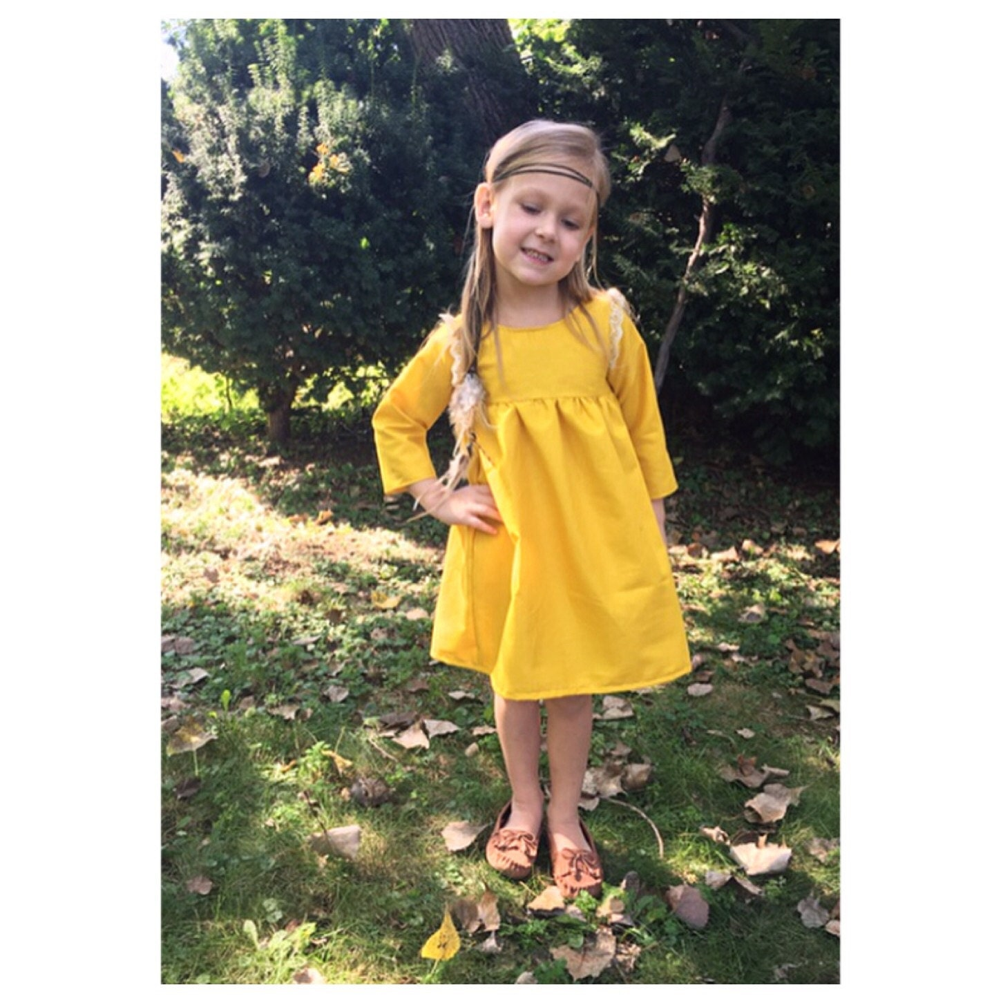 Fall Yellow Dress