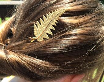Gold Leaf Bobby Pins Fern Bridal Hair Pins Leaf Bridal Hair Clips Bridal Hair Accessories Woodland Wedding Bridal Pin- soldered not glued!