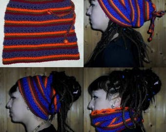 Hat for dreads 115 produced entirely by hand crochet!