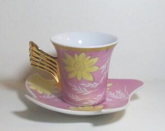 Set of 6 Vintage Demitasse Cups & Saucers