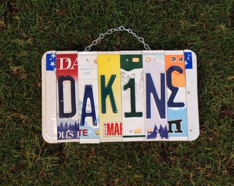 maui. Dakine. Hawaii. Teen. Room decor. Bedroom. Custom. Recycled. License plate. Art.