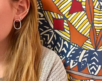 Baby Oval Sterling Silver Studs