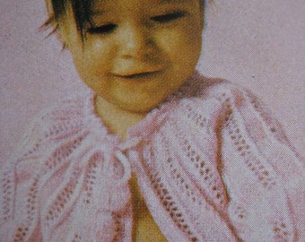 Vintage Knitting PDF Pattern Baby Sweater, 6 months to 1 year 220d