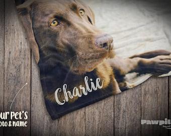 Pet Memorial Blanket, Custom Dog Blanket, Custom Pet Blanket, Pet Loss Gift, Photo Pet Keepsake, Pet Blanket, Dog Gift, Custom Photo blanket