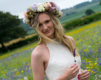 Boho Hippy Woodland Wedding Dress / Bridal Gown 'Eldie'