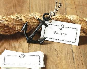 Black Cast Iron Anchor - Nautical Wedding Place card Holder
