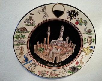 Sena Vetus - ancienne plaque de Sienne - 17 contrade de Sienne