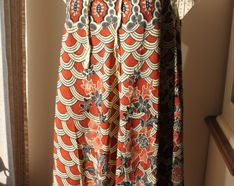 Vintage Funky Chinese Dress, Retro, Ethnic, Asian, One Size