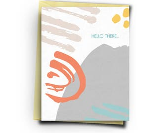 Hello There Card | Greeting Card | Everyday | Abstract | Blank Inside