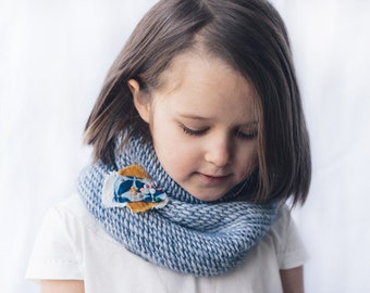 WOOLCANIC cowl - Circular scarf for girl/ Knit kids cowl / Knit merino cowl / Cowl for kid