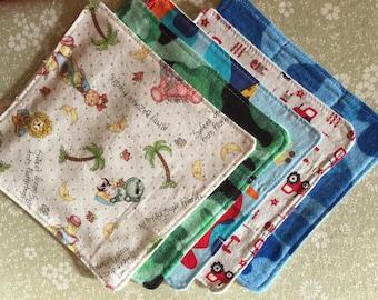 cloth baby wipes, cloth baby washcloths, cloth diaper wipes,,baby boy washcloths, set of 5 cloth wipe baby boy