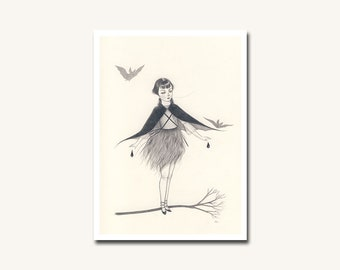 The Rarest of Songs mini print - archival giclee