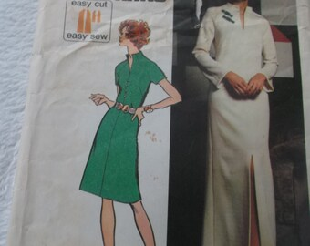 Clearance Sale UNCUT Pattern Pieces Vintage 1970s Simplicity Pattern 5320 Size 10 Misses' Jiffy Knit Dress  in Two Lengths Simple to Sew